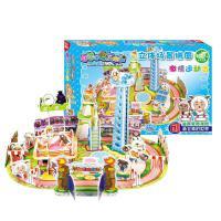?城堡模型3D立体拼图手工拼装6-10岁女孩儿童节玩具?
