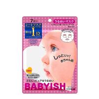 日本kose高丝baby肌面膜 补水保湿 粉色-玻尿酸保湿型7片装