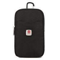 5.5寸手机包男士腰包穿皮带多功能小包运动户外休闲迷你挂包 黑色 手机包