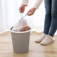 加厚手提银钢袋大号背心式垃圾袋10卷装家用厨房垃圾桶袋子塑料袋