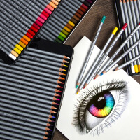 马可7100油性彩色铅笔24色36色48色72色油性彩铅笔专业手绘画画工具套装美术生初学者马克画笔学生用美术用品