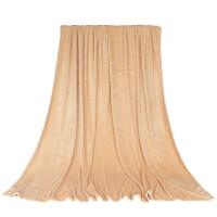 法兰绒四季纯色珊瑚绒毛毯床单法莱绒空调毯子儿童毯可印logo