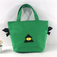 20180518123049172手提包女包 原创个性创意帆布小怪兽眼睛妈咪包 便当饭盒包包