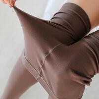 秋冬温柔奶咖外穿加薄绒锦纶哑光面膜袜微压美腿袜连裤打底袜