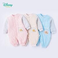 迪士尼Disney童装婴儿衣服新款秋装小丑鱼夹棉男女宝宝爬服连体衣184L757