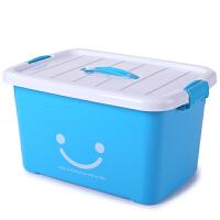 家居生活用品朔料衣服被子塑料整理箱有盖收纳箱周转储物盒透明特大号加厚 五件套 特大 加大 大中小