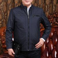 春装外套薄款中年男爸爸穿休闲夹克衫40岁50中老年人男装秋天外衣qg 臧青 春秋薄款 横