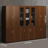 办公家具大文件柜木质办公柜带玻璃书柜储物资料柜文件柜子3uh