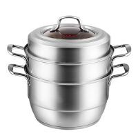 3层304不锈钢蒸锅 三层厚复底蒸馒头的锅具 电磁炉通用