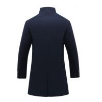 风衣男冬季羊毛呢子大衣中长款妮子外套加绒加厚韩版帅气保暖