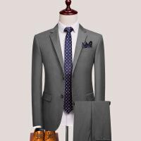 西服套装男士三件套修身职业上班正装伴郎团新郎结婚礼服西装服装