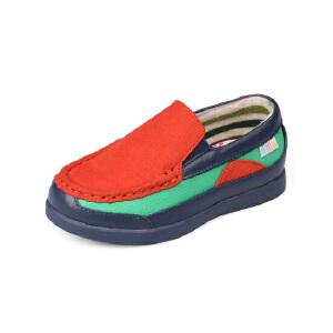 比比我儿童休闲鞋透气中童休闲鞋2017新款一脚蹬软底儿童单鞋