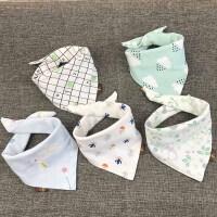 婴儿口水巾三角巾纯棉口水斤围嘴三角防水女孩男童女宝宝口水兜