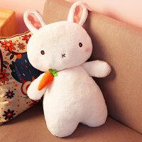 可爱萌兔子毛绒玩具韩国公主抱睡布娃娃小白兔公仔女生日礼物儿童 睁眼 60cm(面料柔软 送女孩)