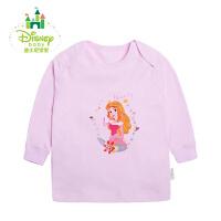 【99元3件】迪士尼Disney新生儿衣服春秋婴儿服装宝宝内衣纯棉活动肩上衣153S681