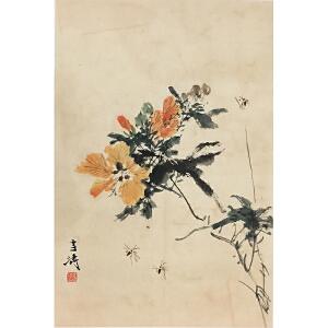 王雪涛《花鸟》著名画家