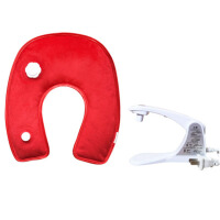 U型注水充电热水袋保暖水袋护肩颈部颈肩电暖宝睡觉热敷颈椎脖子