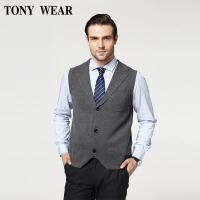 TONY WEAR/汤尼威尔秋季男士商务休闲无袖开衫背心