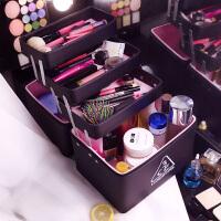 化妆包多功能大号手提洗漱品收纳盒便携韩国专业大容量化妆箱多层