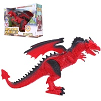 恐龙岛大号电动仿真火焰飞龙动物模型带灯光叫声科教儿童恐龙玩具 电动火龙