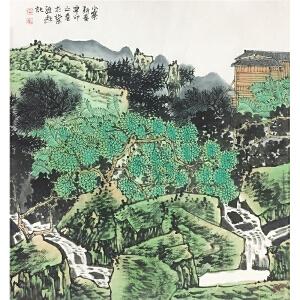 满维起《小寨新春》著名画家
