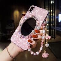oppo手机壳水钻女款全包防摔10倍变焦版网红oppoA9带镜子