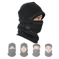 抓绒帽男女户外冬季防风保暖护脸帽子滑雪骑行运动帽面罩围脖