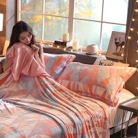 绒枕套一对装 48x74cm枕头套加厚珊瑚法兰法莱绒单人枕芯套 48cmX74cm