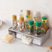 抽屉式调料盒厨房创意调味罐套装家用调味瓶置物架塑料盐罐调味盒