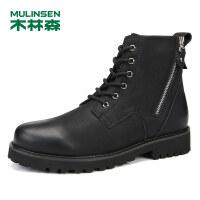 木林森男鞋冬季户外休闲鞋高帮鞋男士靴子马丁靴