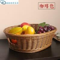 水果盘创意现代客厅水果篮家用仿藤编面包篮子糖果点心篮塑料收纳厨具果盘果篮