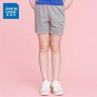 [夏日折扣,满200减50,满300减70]真维斯女童 夏装时尚针织简单俏皮修身休闲短裤潮