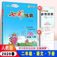 2020春新版 七彩练霸语文 二年级人教版下册 内含答案与解析