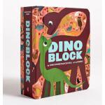 【限量现货】英文原版 Dinoblock 儿童色彩趣味认知厚书:恐龙 精装趣味认知砖块书 介绍各种恐龙(包括名字以及特