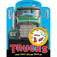 【预订】Trucks Mini Coloring Book
