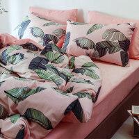 床单四件套珊瑚绒床上用品法兰绒三件套学生宿舍单人男女保暖被套 军