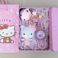 hello kitty凯蒂猫钥匙扣挂件精美吊坠猫爪卡通相机送女朋友礼物