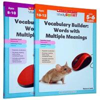 学乐美国小学英语词汇多义词练习册英文原版书ScholasticStudy Smart Vocabulary Build