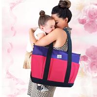 妈咪包手提单肩斜跨妈咪包大容量妈咪包 开放口袋式
