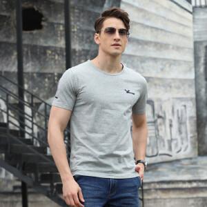 夏季男士短袖t恤套装青少年潮流圆领体恤短裤男装两件套DS85