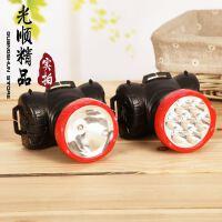 【加大款】大号9LED头灯 2档强光充电头灯 大容量户外打猎骑行灯
