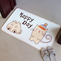 卡通儿童卧室地毯客厅进门门口地垫厨房脚垫浴室卫生间防滑门垫子