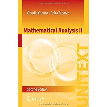 【预订】Mathematical Analysis II 9783319127569 美国库房发货,通常付款后3-5周到货!