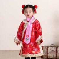 2018新款女童旗袍中国风夹棉儿童唐装公主裙冬季旗袍礼服新年冬装