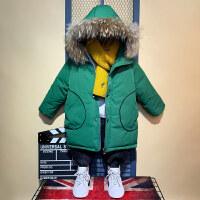 男童洋气新款潮长款儿童装加厚外套冬装棉袄小童宝宝羽绒棉衣