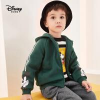 迪士尼男童外套2020春秋新款宝宝儿童卡通印花洋气上衣潮