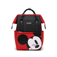 迪士尼米奇双肩妈咪包大容量书包米老鼠旅行乐天撞色离家出走背包