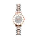 阿玛尼(EmporioArmani)满天星手表 欧美镶钻钢制表带 圆形石英女士手表 AR1926