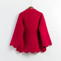 妈妈斗篷披肩仿 绒外套女2018秋冬新款七分袖加厚短款毛衣 均码(好质量送妈妈)