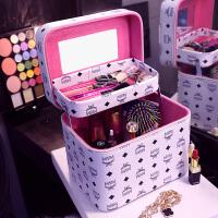 化妆包韩国便携手提化妆箱大容量双层硬的化妆品收纳包洗漱包